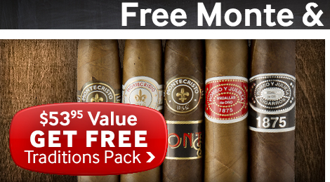 free monte & romeo traditions packs with select altadis cigars