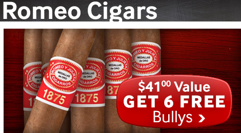 6 free romeo y julieta bully cigars with select upmann cigars