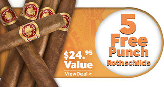 5 free punch cigars with select punch boxes