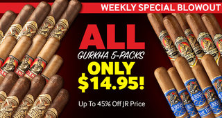 All Gurkha 5-Packs Only $14.95! Up To 45% Off JR Price!