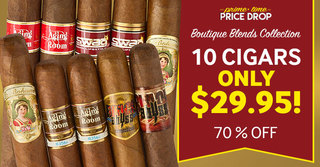 Prime Time Price Drop! For 12 Hours Only, Get 10 Boutique Cigars For Only $29.95 & Save 70%!