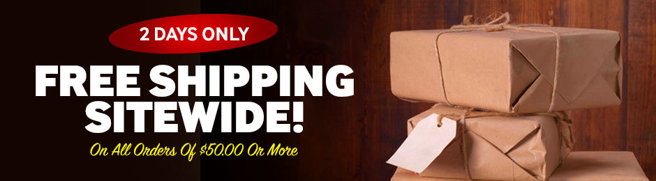 For 2 Days Only, Get Free Shipping Sitewide On All Orders Of $50.00 Or More!