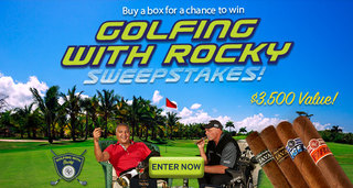 win the golfing with Rocky Patel sweepstakes