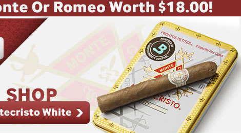 Free tin of monte or romeo cigars with Montecristo white cigars