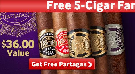 Get 5 free Partagas cigars