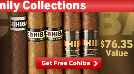 Get 5 free Cohiba cigars