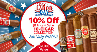 2-Day Labor Day Extravaganza! 10% Off Montecristo, Romeo, & Upmann + 10-Cigar Collection For Only $10.00!