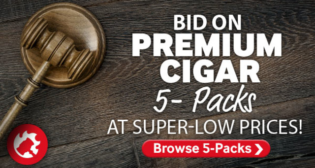 Bid on premium cigar 5-packs