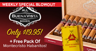 All Boxes Of Buena Vista Only $19.95 Plus Free 6-Pack Of Montecristo Habanitos Valued At $10.18!