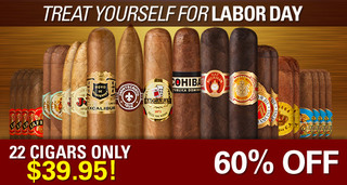 Treat Yourself For Labor Day With A 22-Cigar Collection For Only $39.95 & Save 60%!