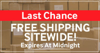 Free Shipping Sitewide On All Orders! No Minimums & No Exclusions! Expires At Midnight!