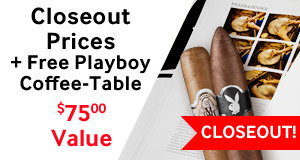 Buy a box of Playboy at the closeout price, get a Playboy Coffee-Table Book free!