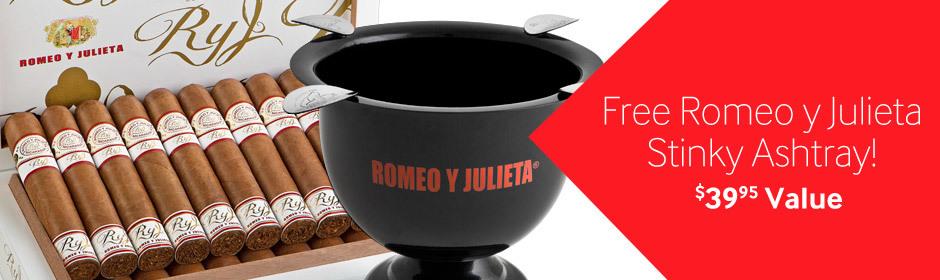 Get a Romeo y Julieta Stinky Ashtray free with select Romeo cigars!