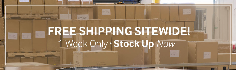For a limited time, we're offering free shipping sitewide!