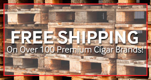 JR Cigar offers free shipping on over 100 premium cigar brands every day!