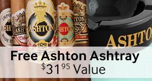 Buy a select box of Ashton cigars, get an Ashton Ashtray free!