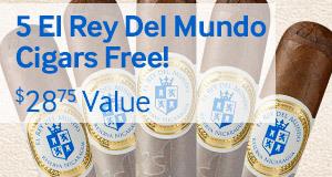 Buy a box of JR Ultimate, get 5 El Rey del Mundo Reserva Nicaragua Robustos free!