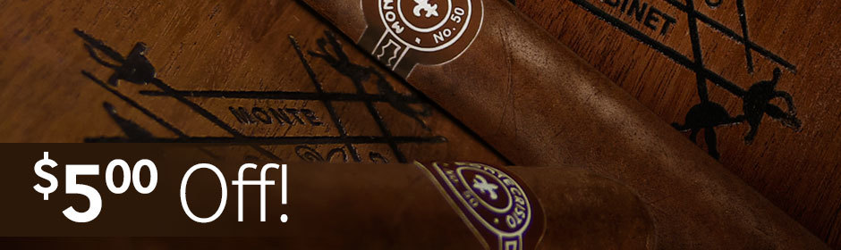 $5.00 off select boxes of Montecristo, Romeo y Julieta, and H. Upmann cigars from Altadis USA!