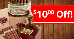$10.00 Off Genuine Counterfeit Cuban cigars!