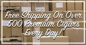 JR Cigar offers free shipping on over 500 premium cigars every day!