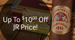 Get up to $10.00 off on all boxes of Partagas Spanish Rosado!