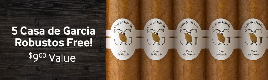 5 Casa de Garcia Robustos Free With Select Boxes Of H. Upmann Cigars!