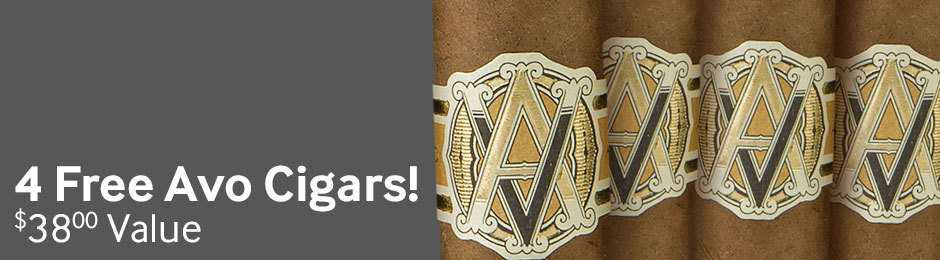 4 Avo Classic No. 2 Cigars Free With Select Boxes Of Avo Cigars!