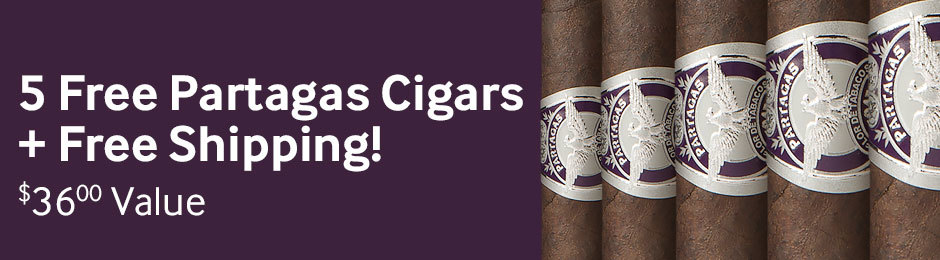 5 Partagas Extra Oscuro Rothschilds + Free Shipping With Select Partagas Cigars!