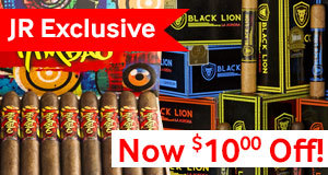 $10.00 Off All Boxes Of Select Premium Cigars Made Exclusively For JR Cigar!