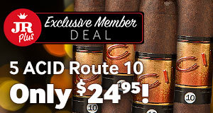 JR Plus Exclusive Member Deal! Get $5.00 Off A 5-Pack Of ACID Route 10 Cigars! Just Use Code JRPLUS36!