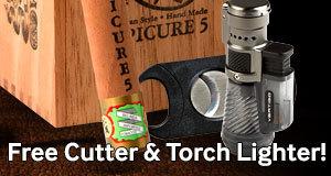 Free Cigar Savor Cutter & Vertigo Lighter With Select Belinda Cigars!