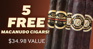 5 Free Macanudo Cigars With Select Boxes Of Macanudo Cigars!