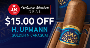 JR Plus Exclusive Member Deal! $15.00 Off All Boxes Of H. Upmann Golden Nicaragua Cigars!