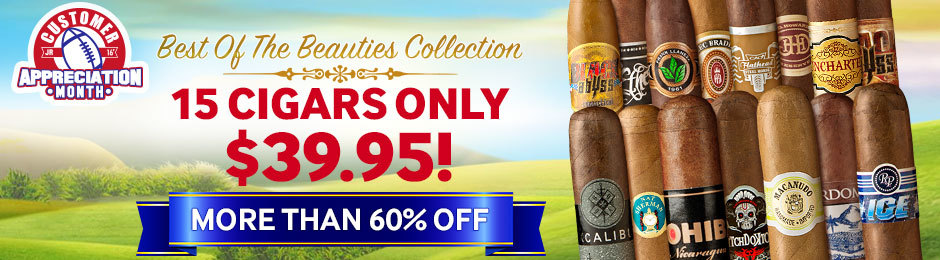 58afa1d0fc44 Today Only Get The 15-Cigar Best Of The Beauties Collection For Only $39.95  ...