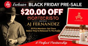 JR Plus Members Get To Try The Brand-New Montecristo Crafted By AJ Fernandez Cigars Before They're Released To The Public & Save $20.00 Of All Boxes!