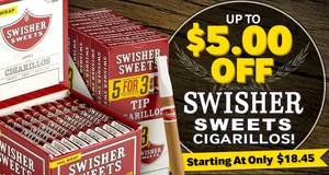 This Week Only, Save Up To $5.00 On Swisher Cigarillos!