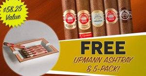 H. Upmann Ashtray & 5-Pack Only $5.00 With Select Boxes Of H. Upmann Cigars!