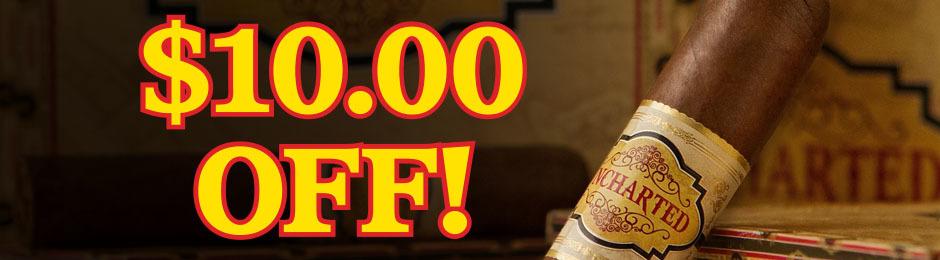 $10.00 Off Select Boxes & Bundles Of JR Exclusive Cigars!