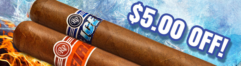 $5.00 Off Select Boxes & Bundles Of Rocky Patel Cigars!