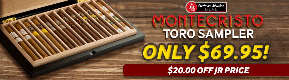 JR Plus Members Get $20.00 Off The Montecristo Toro Sampler & Pay Only $69.95!