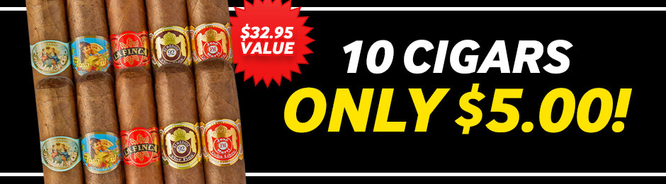10 Cigars For Only $5.00 With Select Boxes Of JR Exclusive Cigars!
