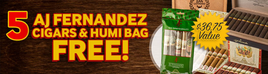 Free AJ Fernandez 5-Pack & Humi Bag With New World & San Lotano!