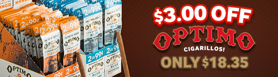 This Week Only, Get $3.00 Off Optimo Cigarillos & Pay Only $18.35!