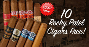 10 Free Rocky Patel Cigars With Select Rocky Patel Cigars!