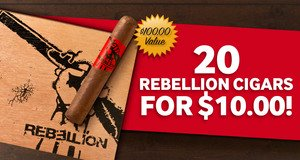 Box Of 20 Rebellion Cavalry Only $10.00 With Select Montecristo Cigars!
