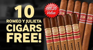 10 Free Romeo Cigars With Romeo Crafted By AJ Fernandez Cigars!