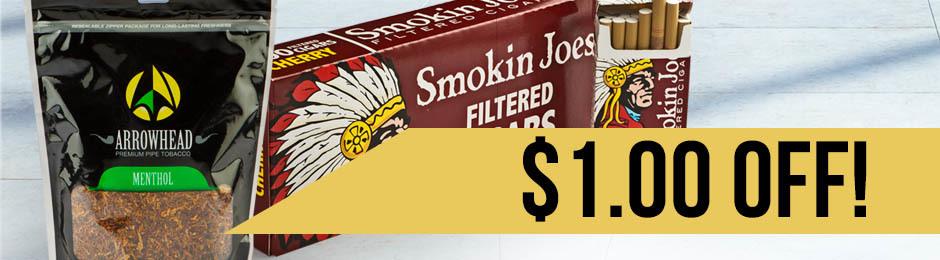 $1.00 Off Smokinu0027 Joes Cigars u0026 Arrowhead Pipe Tobacco! & $1.00 Off Smokinu0027 Joes Cigars u0026 Arrowhead Pipe Tobacco! | JR Cigar