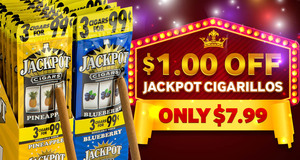 This Week Only, Get $1.00 Off Jackpot Cigarillos!