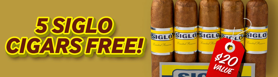 5 Free Siglo Cigars With Select Boxes Of Montecristo Cigars!