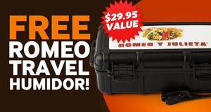 Free Romeo Travel Humidor With Select Boxes Of Romeo y Julieta Cigars!
